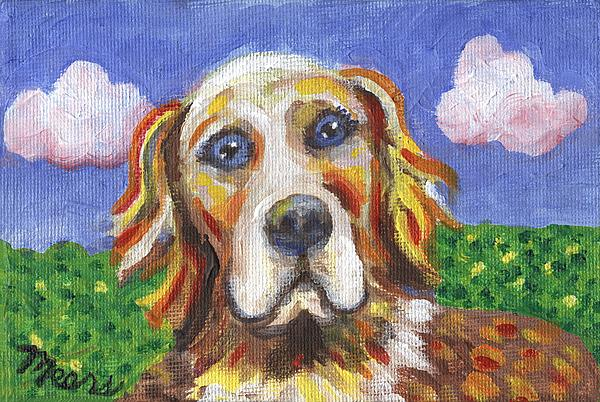 Golden Dog Print by Linda Mears