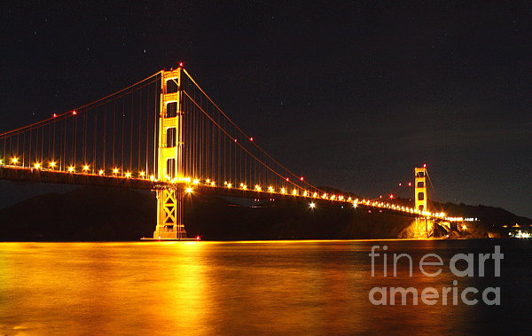 Golden Gate Bridge 2 Print by Theresa Ramos-DuVon