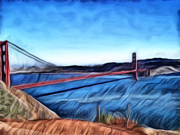 Windy Day At Golden Gate Bridge Print by Withintensity TouchGolden Gate Bridge At Day