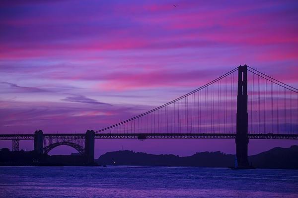 Golden Gate Bridge At Twilight Print by Garry Gay