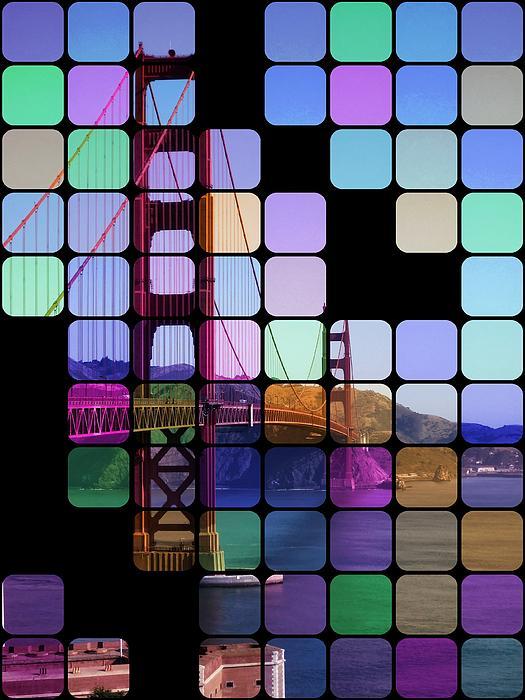 Golden Gate Bridge Modern Art Print by Florian Rodarte