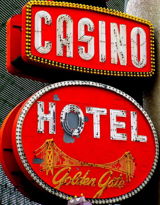 Golden Gate Casino Hotel Print by Randall Weidner