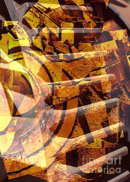 Carol Groenen - Golden Gears Abstract