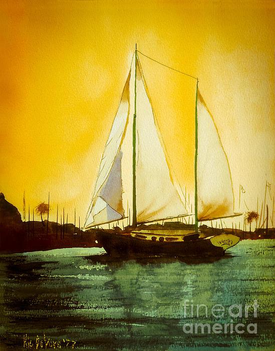Golden Harbor  Print by Kip DeVore