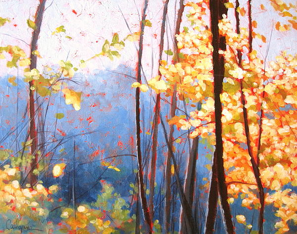 Golden Leaves Print by Carlynne Hershberger