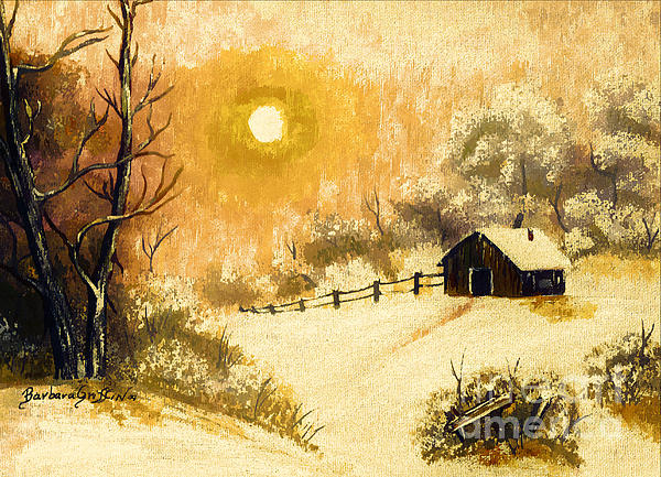 Golden Morning Print by Barbara Griffin