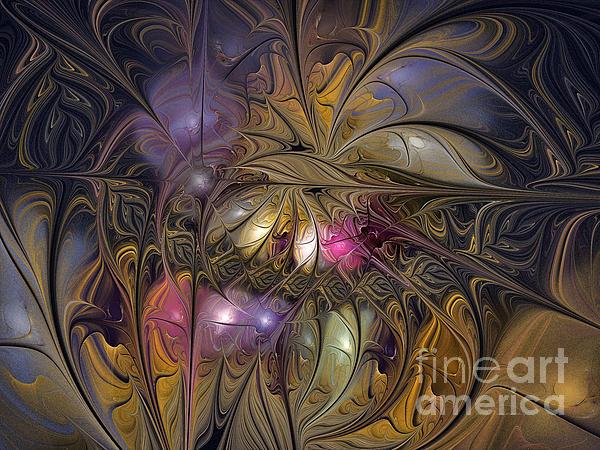 Golden Ornamentations-fractal Design Print by Karin Kuhlmann