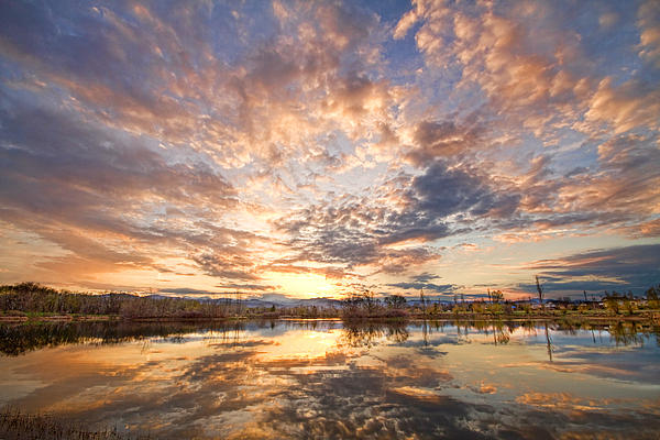 Golden Ponds Scenic Sunset Reflections 3 Print by James BO  Insogna