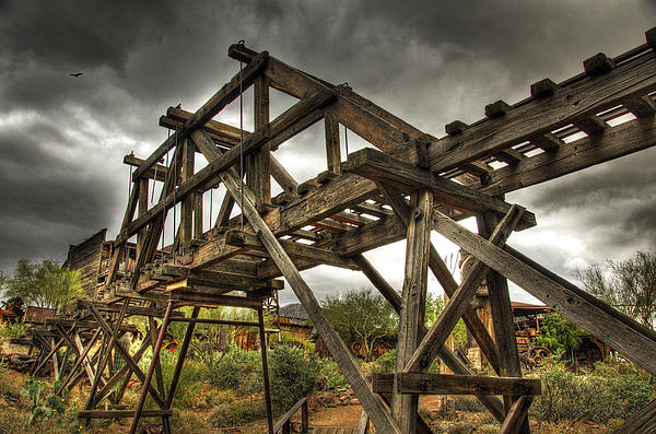 Goldfield Ghost Town - The Bridge  Print by Saija  Lehtonen