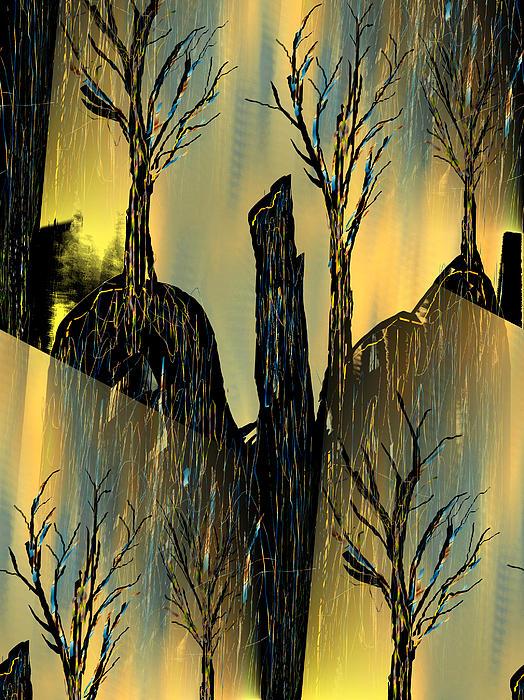 Goldforest Print by Yul Olaivar