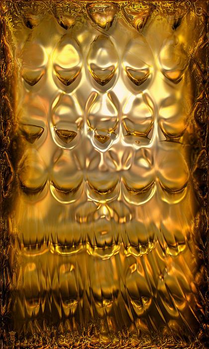 Goldpanel 02 Print by Li   van Saathoff