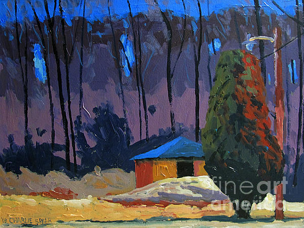 Golf Course Shed Series No.2 Print by Charlie Spear