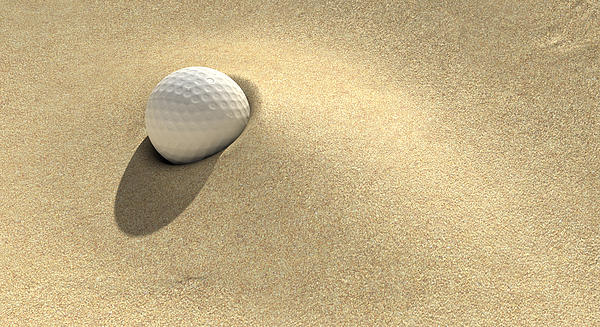 Golf Sand Trap Print by Allan Swart