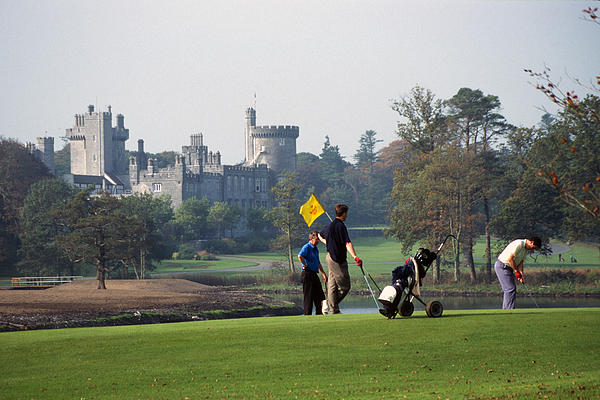 Golfing At Dromoland Castle Print by Carl Purcell
