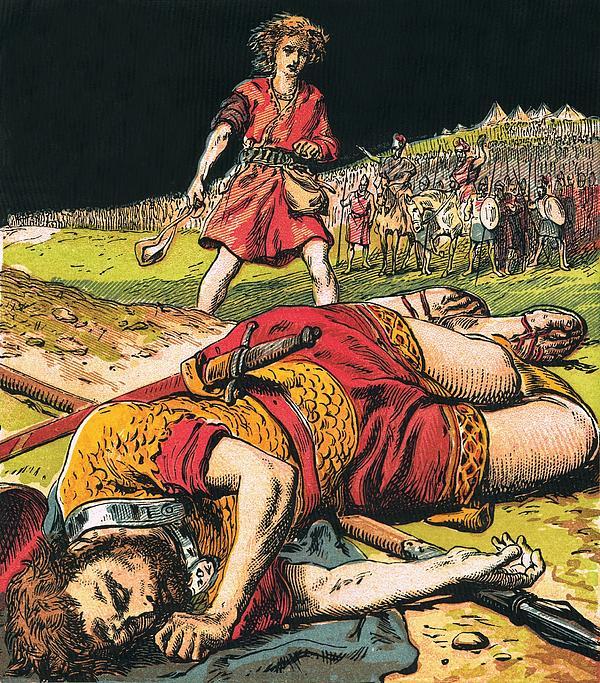 Goliath Print by English School
