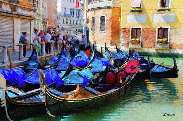Gondolas Print by Jeff Kolker