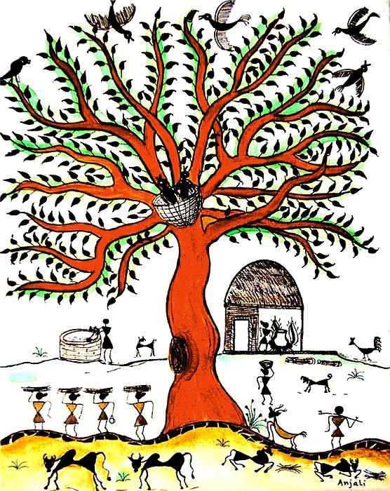 Good Morning Chirp Print by Anjali Vaidya