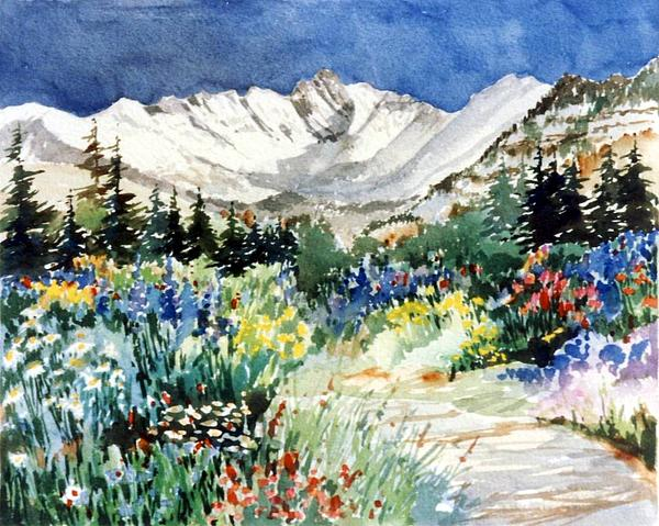Gore Range Trail Print by Patty  Frierson
