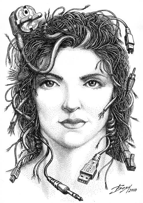 Gorgon Medusa Print by Boyan Donev