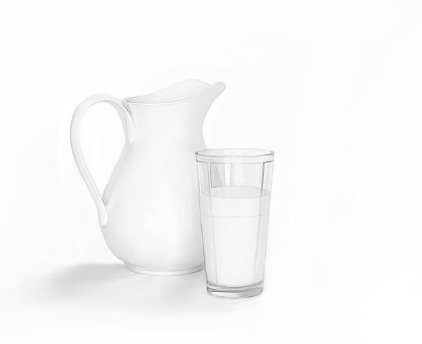 Got Milk Print by Linda Muir