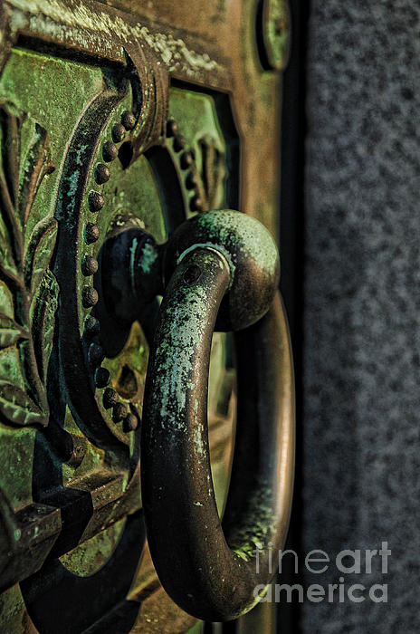Goth - Crypt Door Knocker Print by Paul Ward