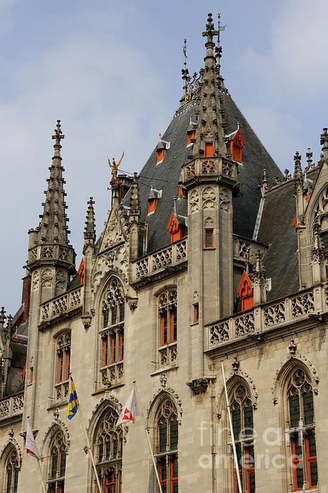 Gothic Bruges Print by Carol Groenen
