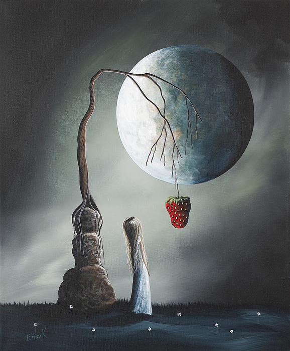 Gothic Fantasy Art By Shawna Erback So Tempting Print by Shawna Erback