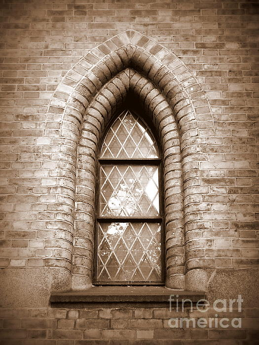 Gothic Window Print by Carol Groenen