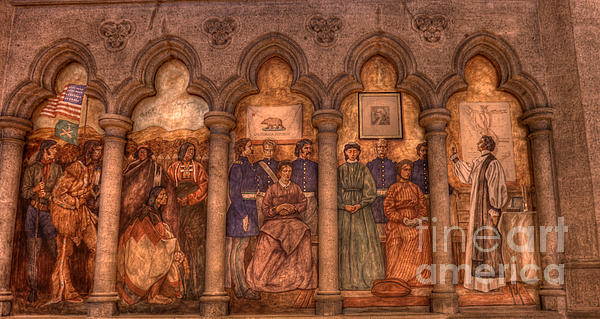 Grace Cathedral Mural Print by David Bearden
