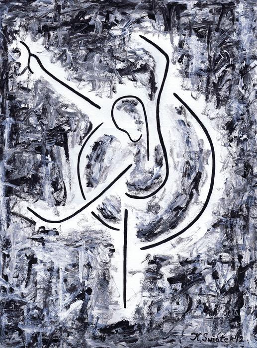 Graceful Swan Print by Kamil Swiatek