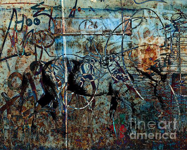 Graffiti Horse Blues Print by Judy Wood