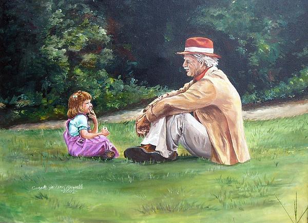 Grampa's Bible Stories Print by Carole Powell