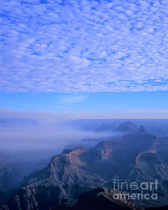 Grand Canyon Blues Print by Alex Cassels