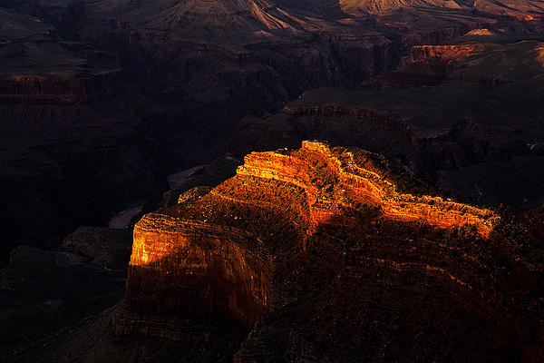 Grand Canyon Evening Print by Andrew Soundarajan
