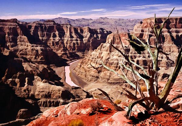 Bob and Nadine Johnston - Grand Canyon West Painting