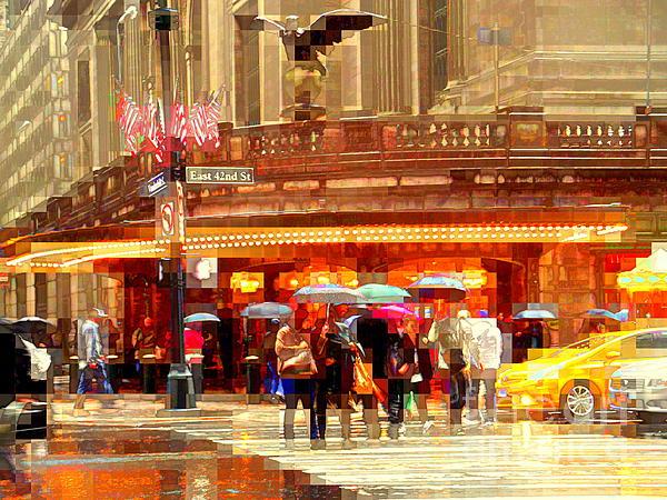Grand Central Station In The Rain - New York Print by Miriam Danar