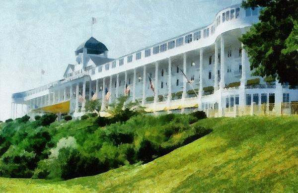 Grand Hotel Mackinac Island Ll Print by Michelle Calkins