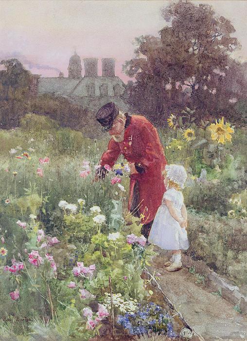 Grandads Garden Print by Rose Maynard Barton