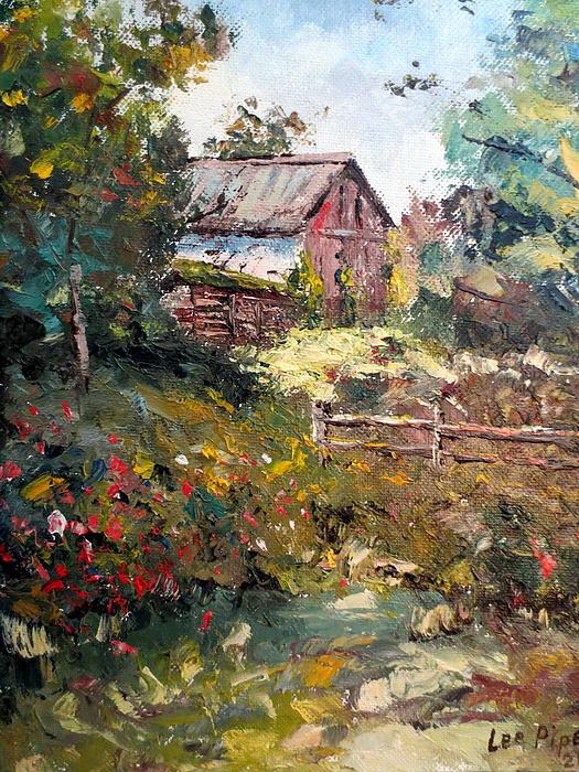 Grandpa's Barn Print by Lee Piper