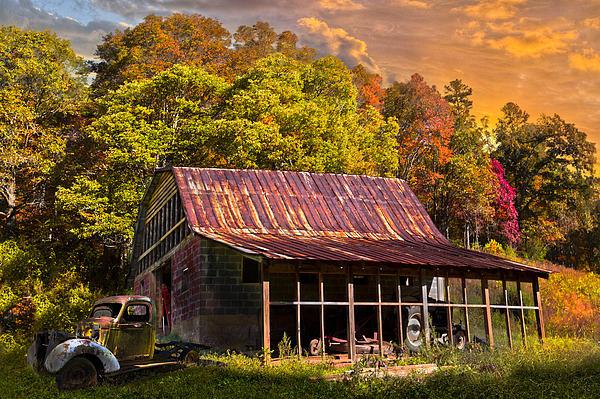 Grandpa's Old Truck Print by Debra and Dave Vanderlaan