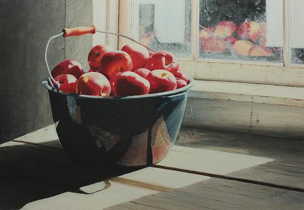 Graniteware Apples Print by Nancy Teague