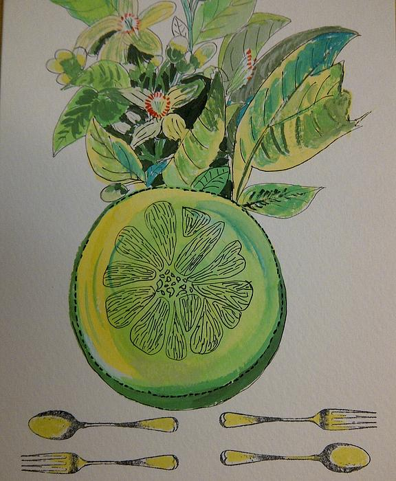 Grapefruit Print by Olivier Calas