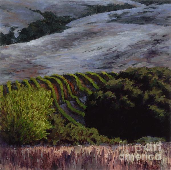 Grapes And Oaks Print by Betsee  Talavera