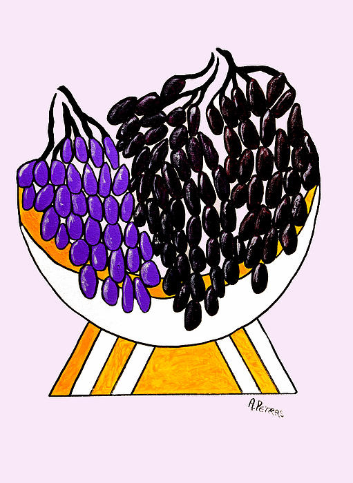 Grapes Print by Andrew Petras