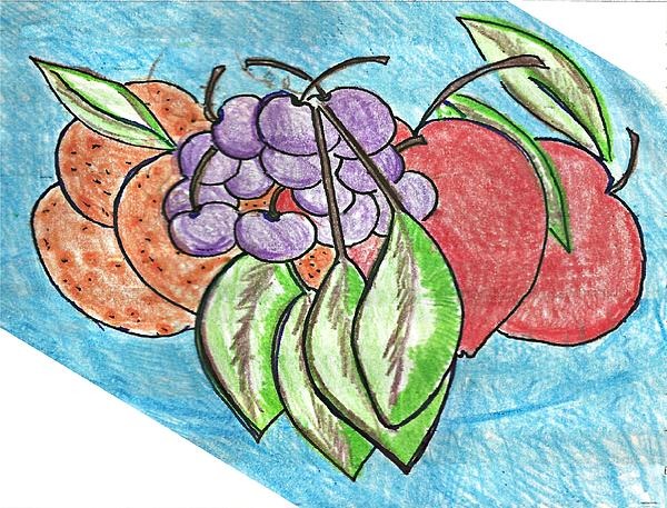 Grapes Print by Becky Sterling