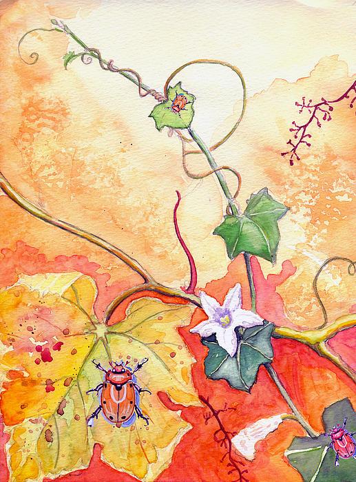 Grapevine Beetle Print by Katherine Miller