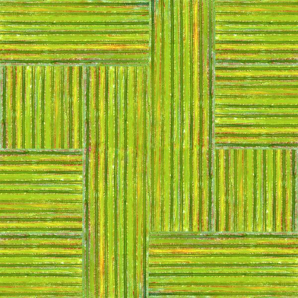 Grassy Green Stripes Print by Michelle Calkins