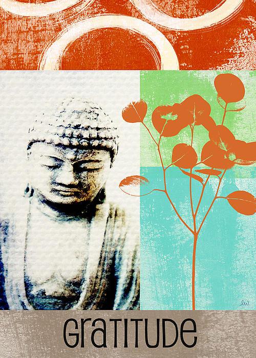 Gratitude Card- Zen Buddha Print by Linda Woods