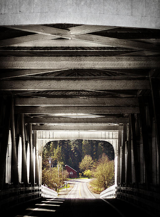 Grave Creek Covered Bridge Print by Melanie Lankford Photography