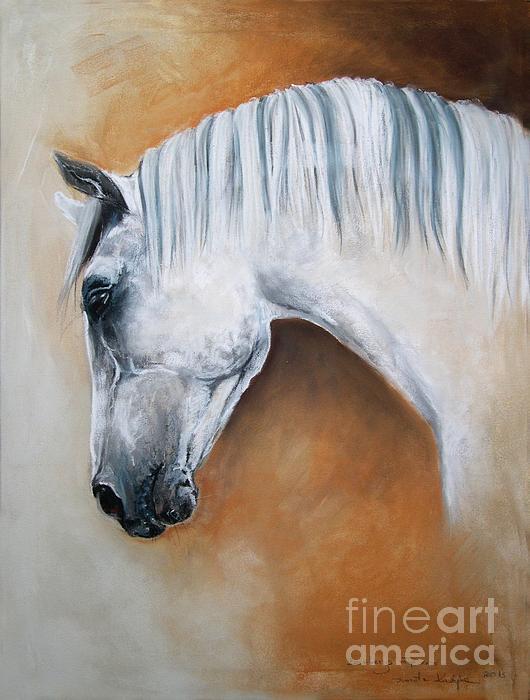 Gray Stallion Xxoo Print by Dorota Kudyba